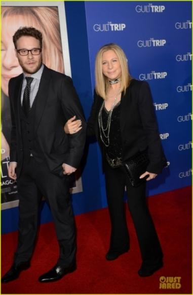 Barbara Streisand at a movie premiere