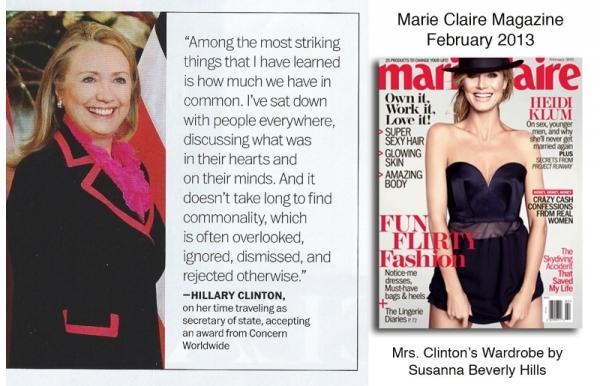 Hillary Clinton wears the famous pantsuit