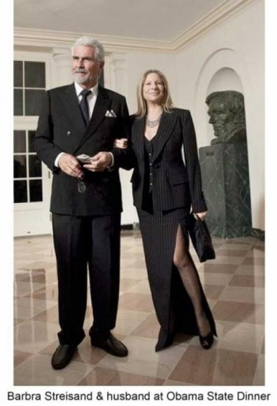 Barbara Streisand and her husband James Brolin