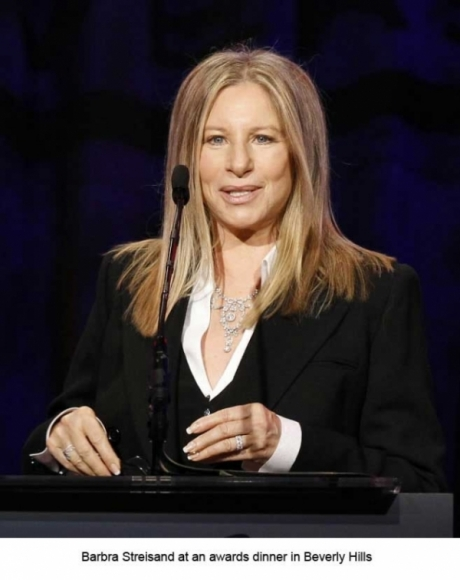 Barbara Streisand at an awards dinner in Beverly Hills