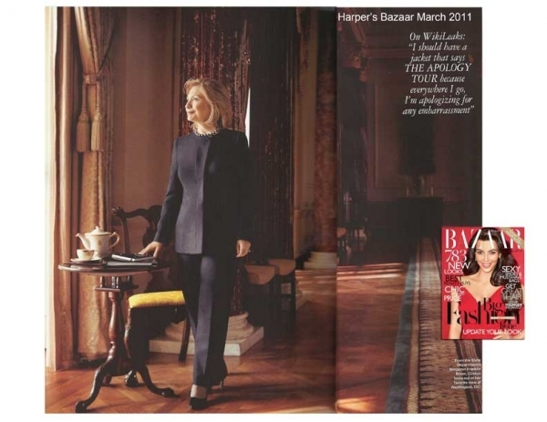The famous black pantsuit worn by Hillary Clinton