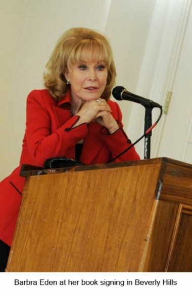 Red haute couture pantsuit worn by Barbara Eden