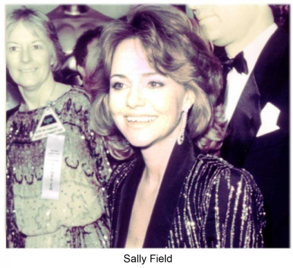 Sally Fields at the Academy awards