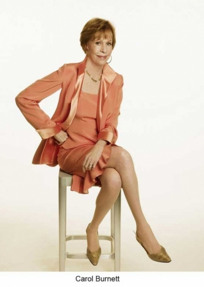 Carol Burnett wearing a suit jacket designed by Susanna Beverly Hills.