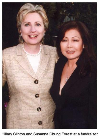 Hillary Clinton and Susanna Chung Forest