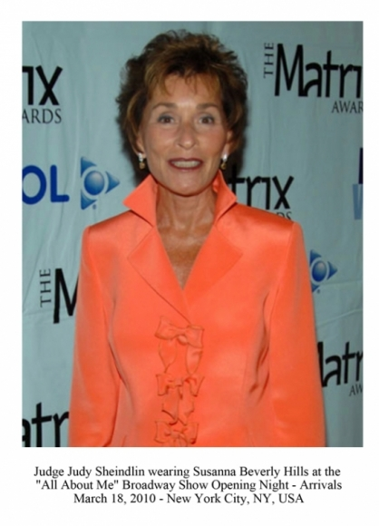 Judge Judy Sheindlin wearing Susanna Beverly Hills