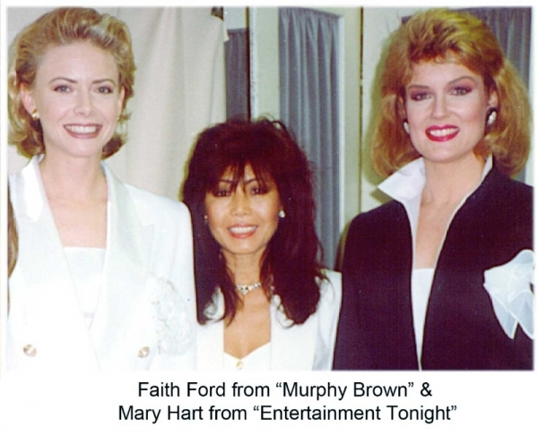 """Faith Ford from """"Murphy Brown"""" & Mary Hart from """"Entertainment Tonight"""""""