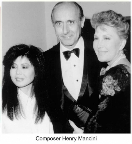 Susanna Forest with composer Henry Mancini.