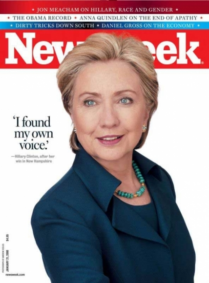 Hillary Clinton on the cover of Newsweek magazine