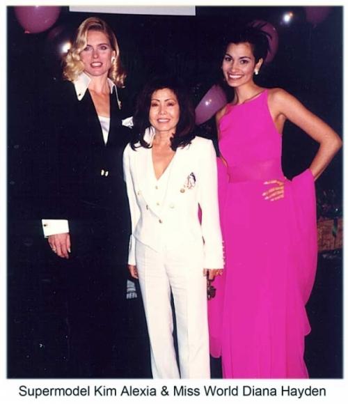Supermodel Kim Alexa & Miss World Diana Hayden