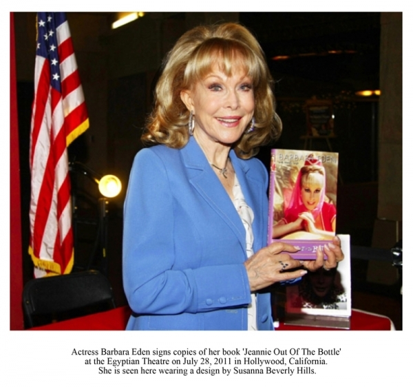 Actress Barbara Eden signs copies of her book 'Jeannie Out of the Bottle'