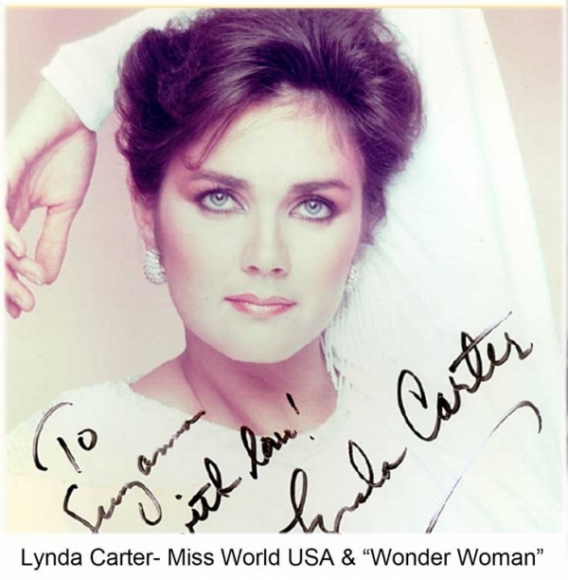 "Lynda Carter- Miss World USA & ""Wonder Woman"""