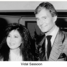 Vidal Sassoon wearing a handsome evening suite by Susanna Beverly Hills