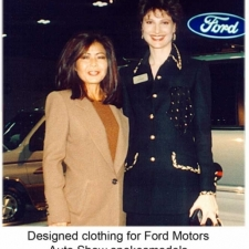 Susanna Beverly Hills designed clothing for Ford Motors Auto Show