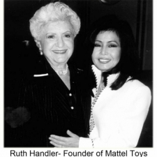 Ruth Handler- Founder of Mattel Toys wearing haute couture clothes