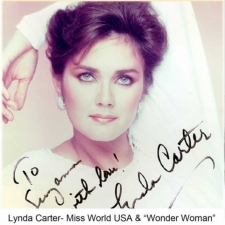 "Lynda Carter- Miss World USA & ""Wonder Woman"""