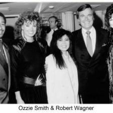 Ozzie Smith & Robert Wagner with Susanna Chung Forest