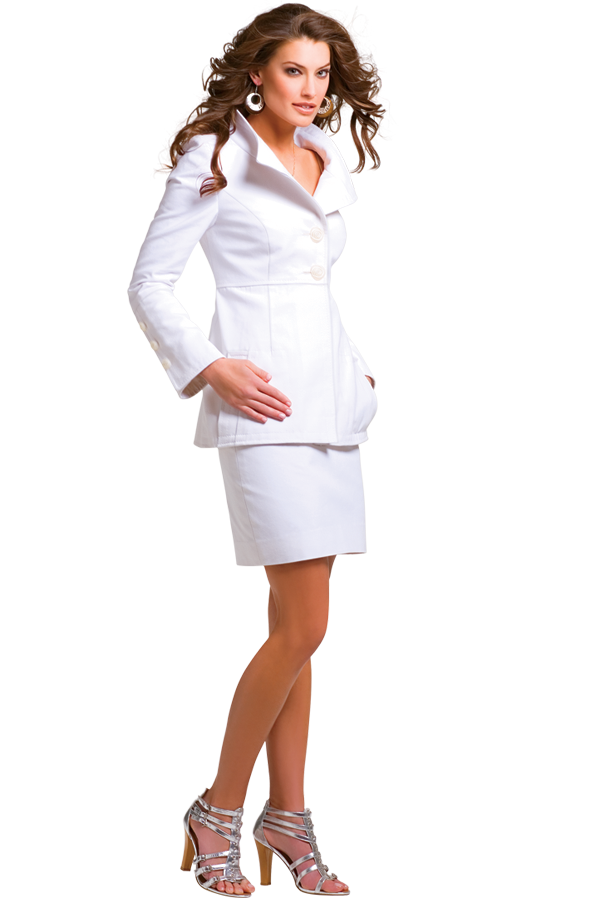 Luxurious White Skirt Suit