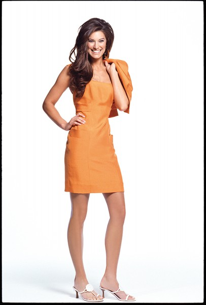 tangerine cocktail dress