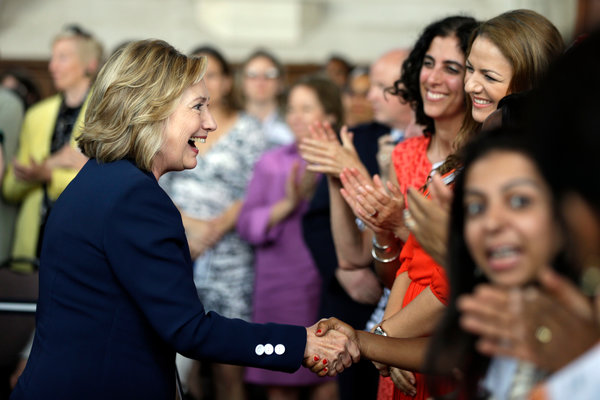 Hillary Clinton wears designs by Susanna Beverly Hills