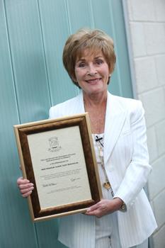 Judge Judy wears Susanna Beverly Hills