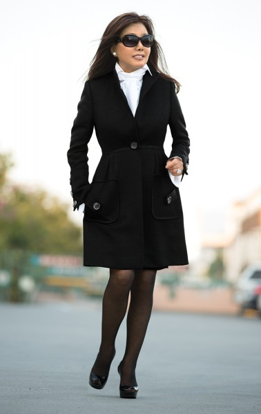 short black dress coat