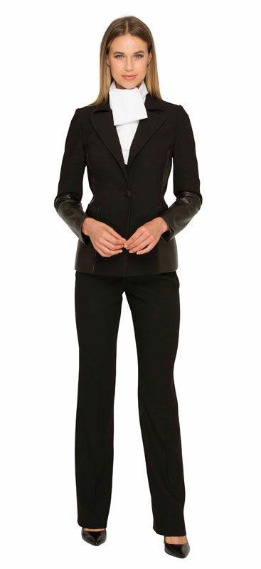Judge Judy wearing Beverly Hills fashion in the famous pant suit designed by Susanna Beverly Hills