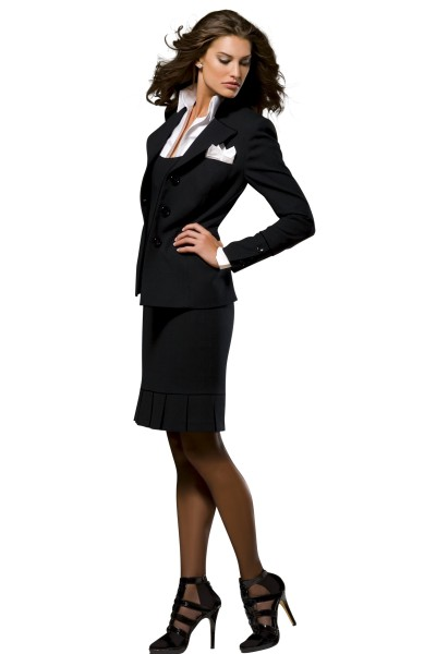 3 piece skirt suit designed by Susanna Beverly Hills