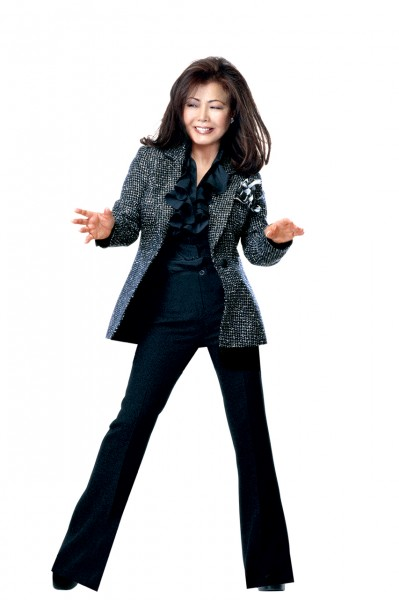 The famous Black and White Tweed Jacket by Susanna beverly Hills