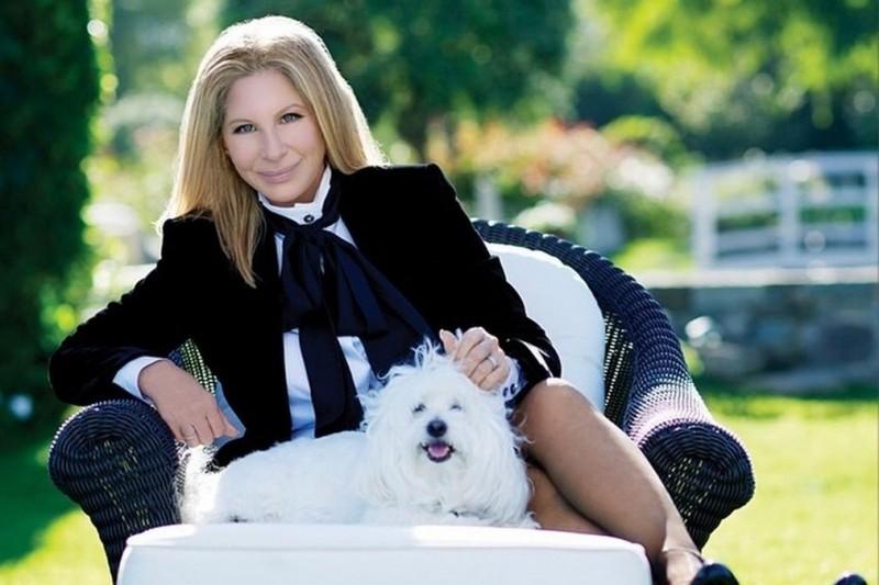 Beautiful Barbara Streisand is wearing Susanna Beverly Hills Black jacket.