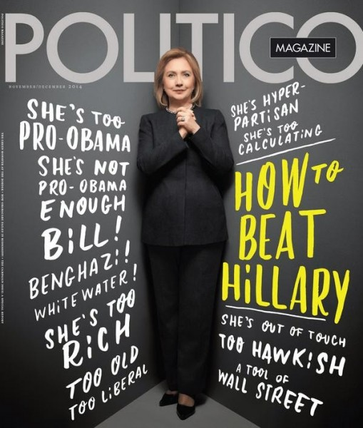 Hillary Clinton Wears Asymmetrical Jacket Designed by Susanna Beverly Hills for Politico Magazine