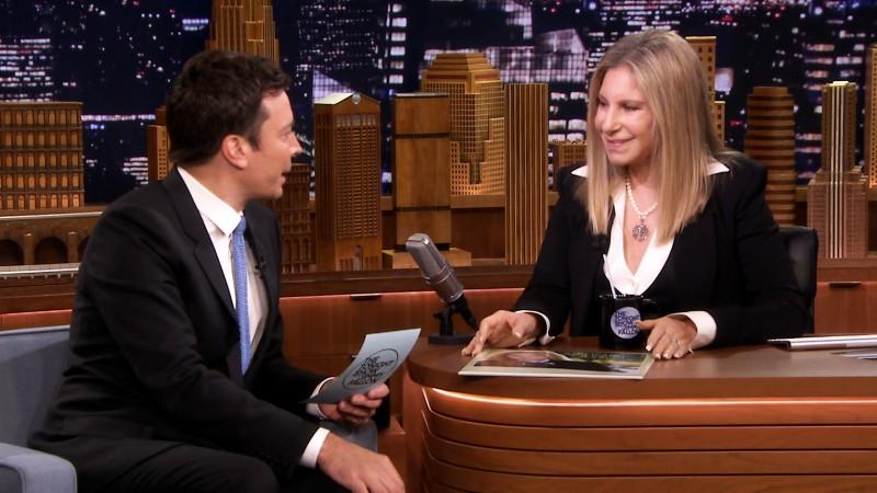 Barbra Streisand on the Tonight Show Wearing Susanna Beverly Hills