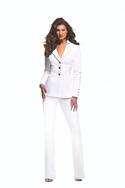 The Famous White Pantsuit from SS15 Collection