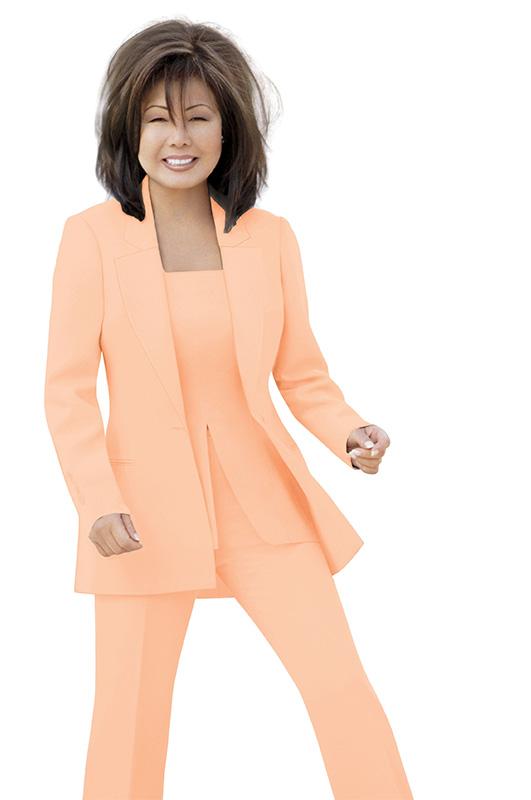 Famous Tangerine Pantsuit