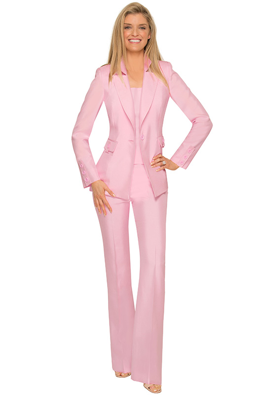 Haute Couture Pink Pantsuit