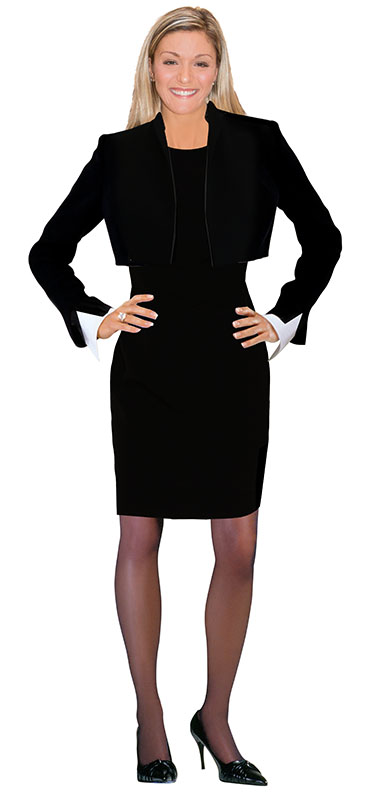 black-bolero-jacket-shift-dress