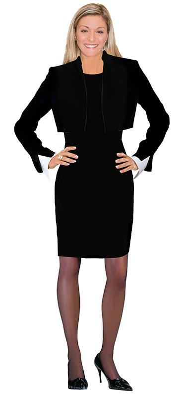 White business skirt suit for women