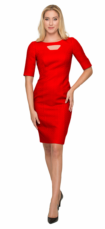 Beverly Hills Womens Fashion - Red Cocktail Dress