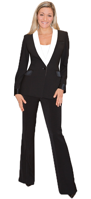beautiful mocha pant suit