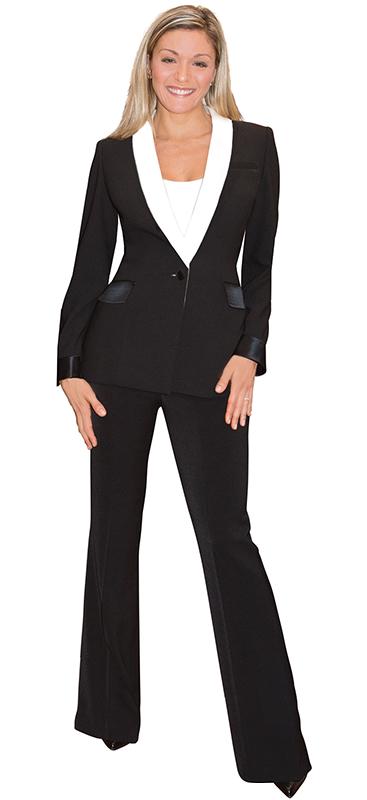 beautiful mocha pant suit