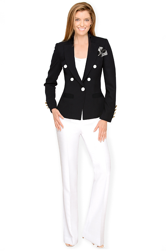 black-jacket-white-pants