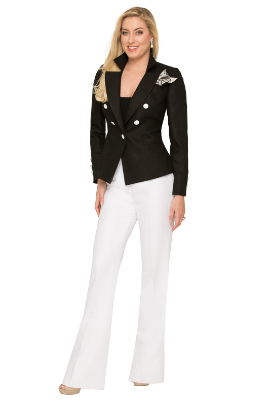 black-summer-jacket-and-white-pants-suit