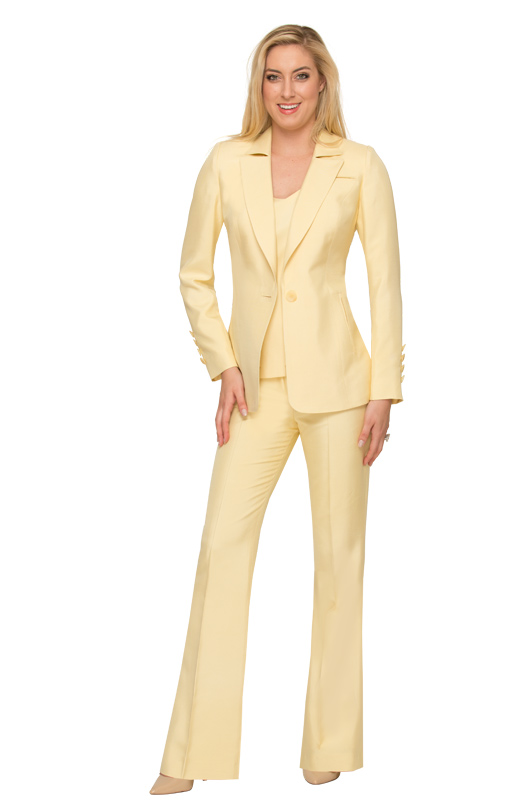 canary-yellow-couture-pants-suit