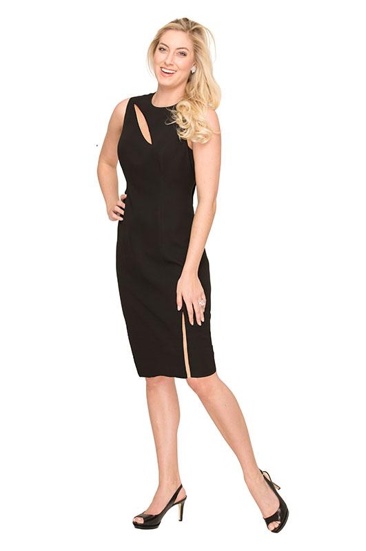 black sexy cocktail dress