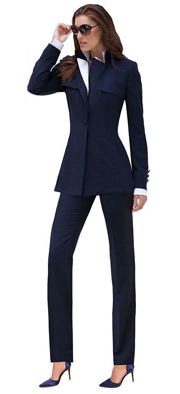 Elegant Navy Pant Suit