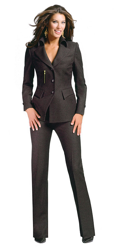 Luxury Mocha Brown Pant Suit