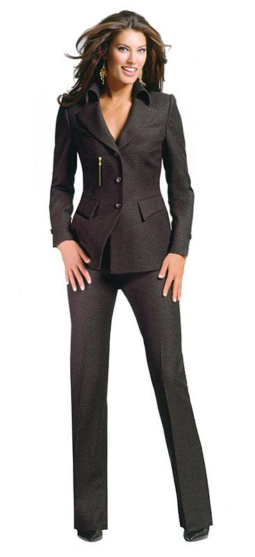 Luxury Mocha Brown Pant Suit