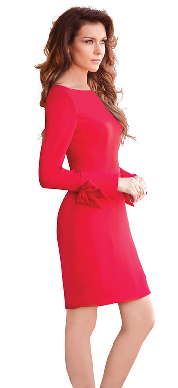 Soft Cocktail Red Dress