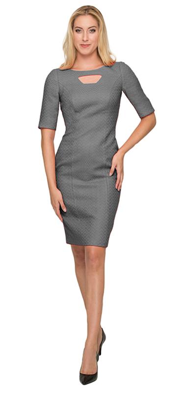 Elegant Soft Grey Dress