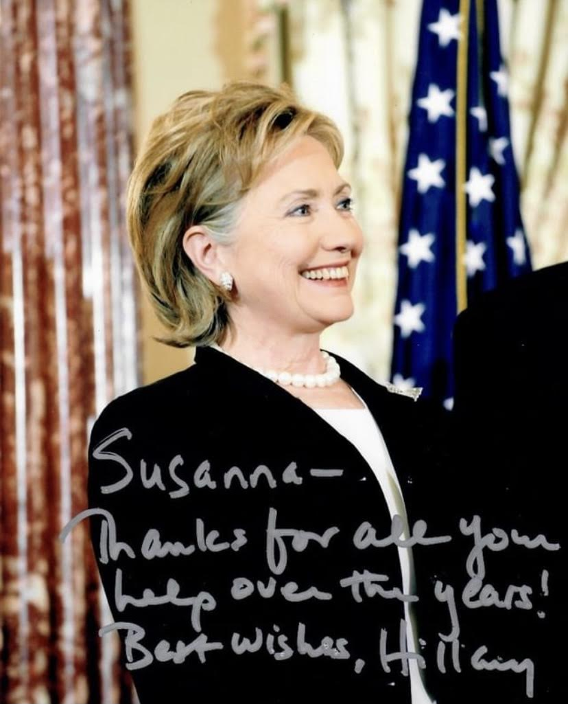 Thank You Note from Hillary Clinton | Susanna Beverly Hills